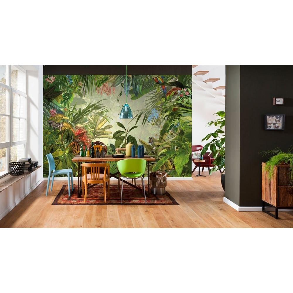 Komar 145 in. H x 98 in. W Into the Wild Wall Mural, Greens