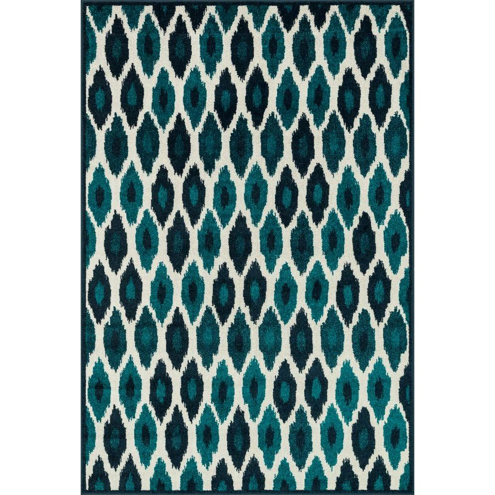 Loloi Rugs Catalina Lifestyle Collection Peacock/Ivory 9 ft. 2 in. x 12 ft. 1 in. Area Rug