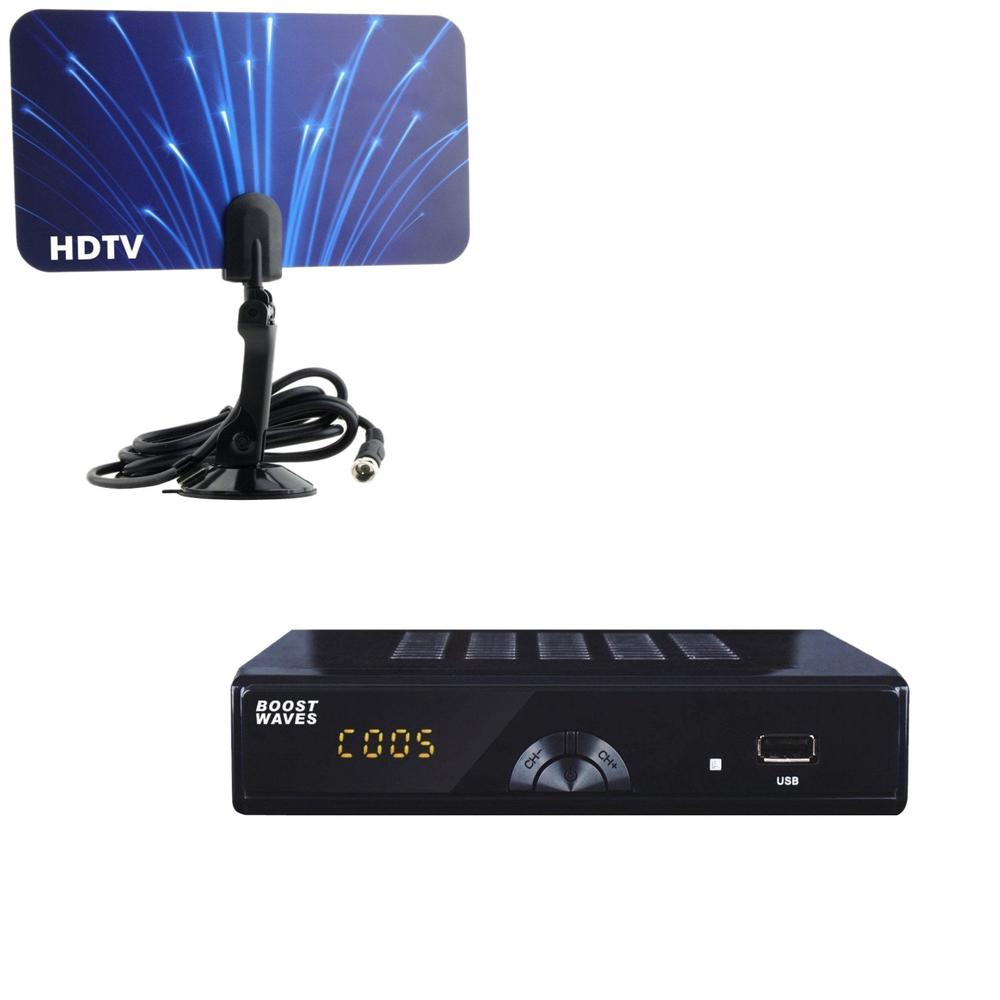 Digital Television Converter Box HD Flat Antenna Scheduled Recording DVR 1080p