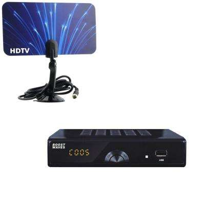 Digital Television Converter Box HD Flat Antenna Scheduled Recording DVR 1080p HDTV HDMI