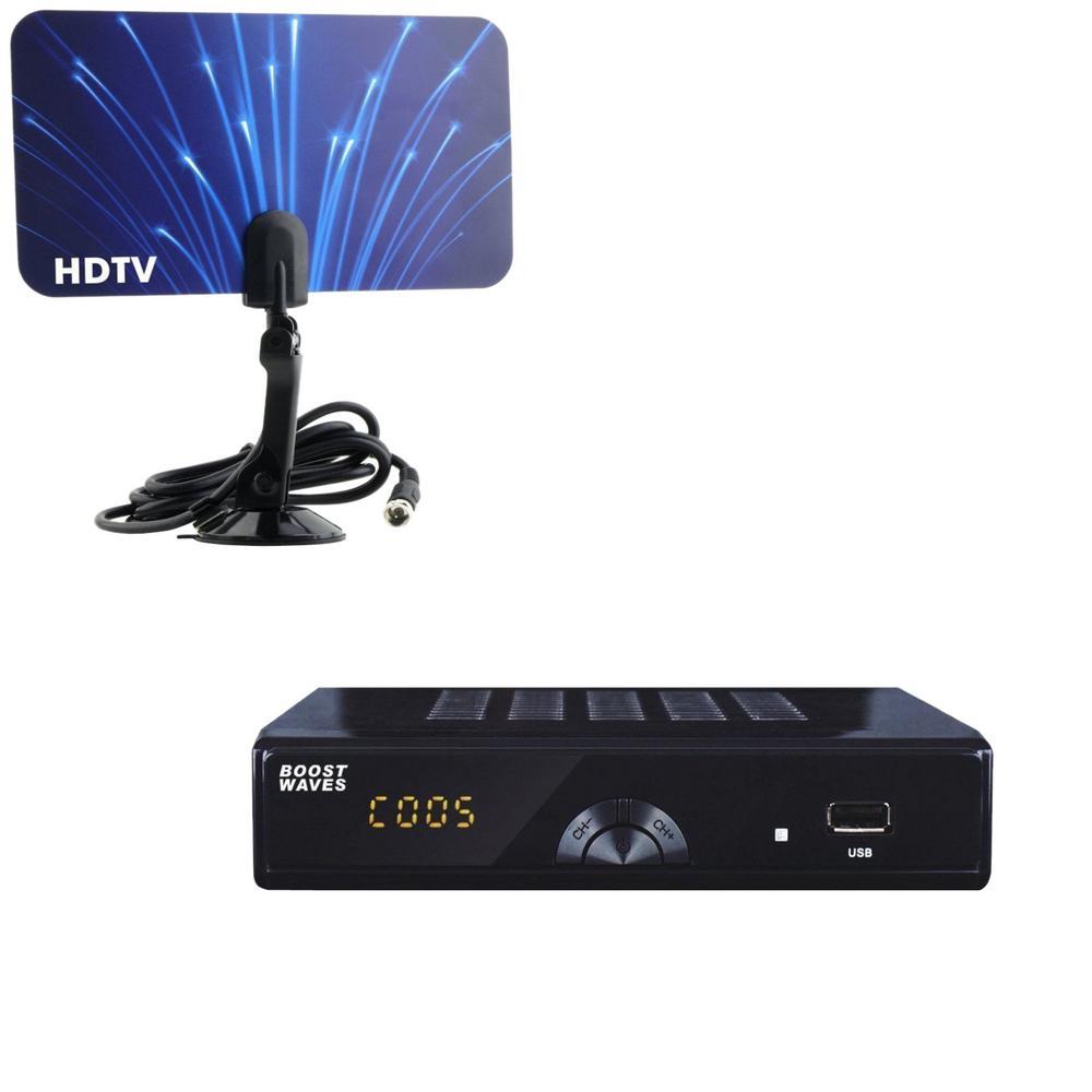 Digital Television Converter Box HD Flat Antenna Scheduled Recording DVR 1080p HDTV HDMI