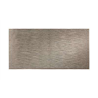 Dunes Horizontal 96 in. x 48 in. Decorative Wall Panel in Galvanized Steel