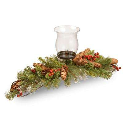 30 in. Crestwood Spruce Centerpiece and Candle Holder