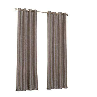 Presto Blackout Window Curtain Panel in Chocolate - 52 in. W. x 63 in. L