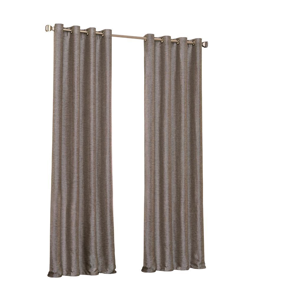 Presto Blackout Window Curtain Panel in Chocolate - 52 in. W. x 84 in. L