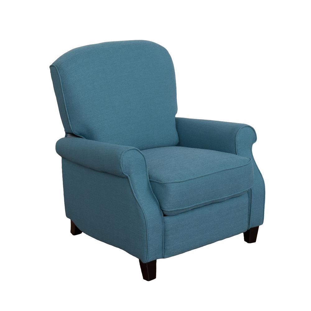 CorLiving Noah Blue Linen Fabric Recliner LZY-426-R