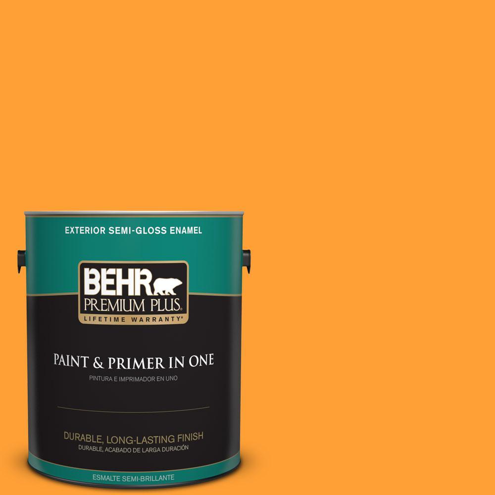 1-gal. #P250-7 Blazing Bonfire Semi-Gloss Enamel Exterior Paint