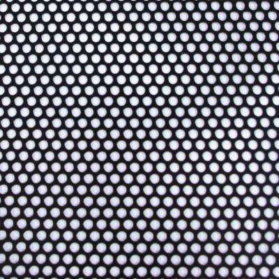 36 in. x 36 in. Small Hole Aluminum Sheet in Black