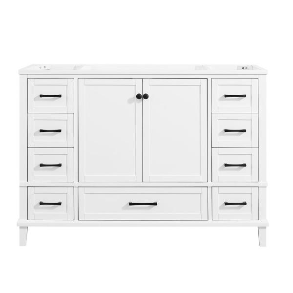 Merryfield 48 in. W x 21-1/2 in. D Bathroom Vanity Cabinet Only in White