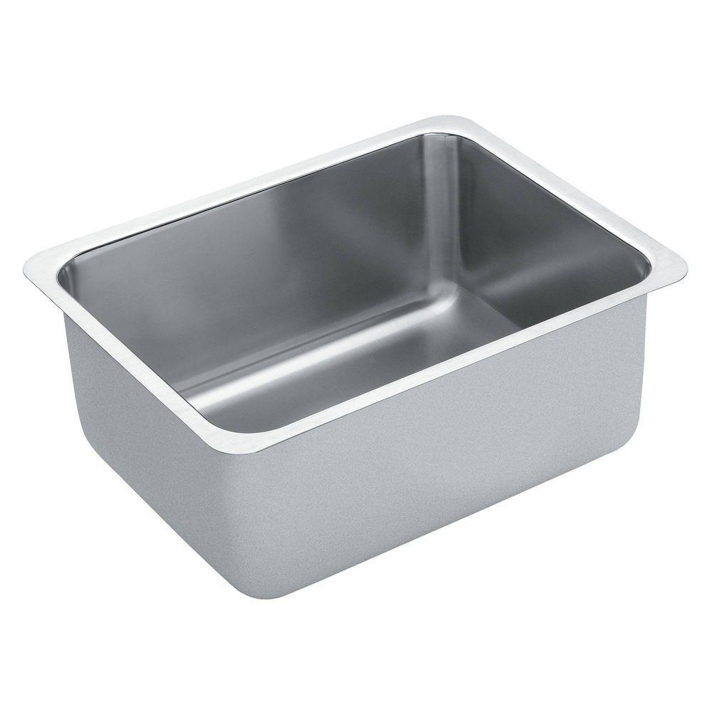 1800 Series Undermount Stainless Steel 21 in. Single Bowl Kitchen Sink