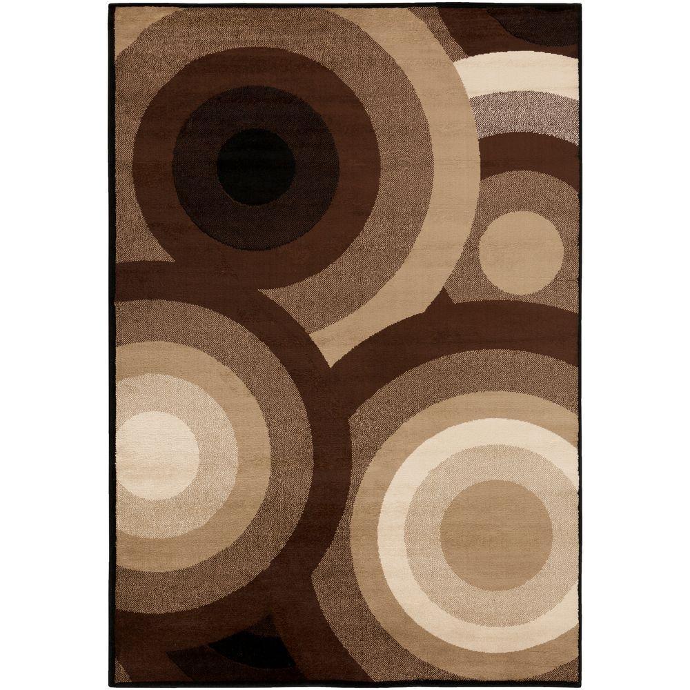 Kalocsa Chocolate 7 ft. 9 in. x 11 ft. 2 in. Indoor Area Rug