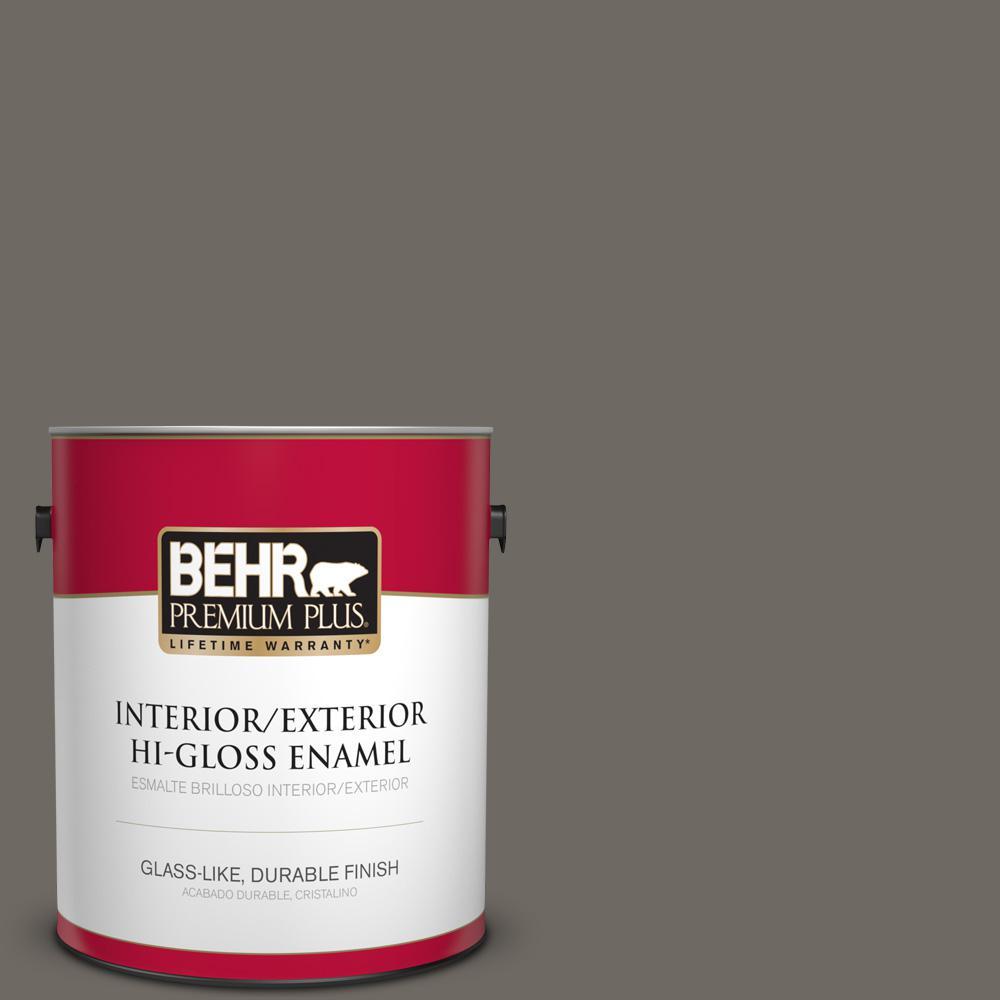 1 gal. #PPU24-04 Burnished Pewter Hi-Gloss Enamel Interior/Exterior Paint