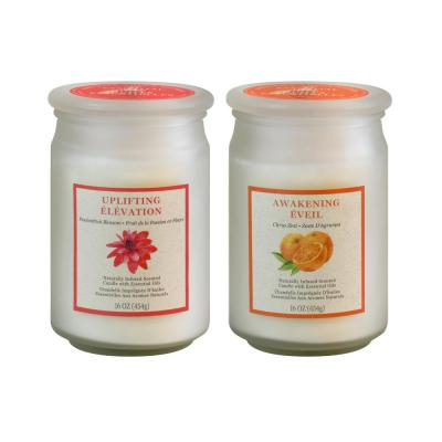 Passionfruit Blossom and Citrus Zest Scented Wax Candles - Inspiration Collection (set of 2)