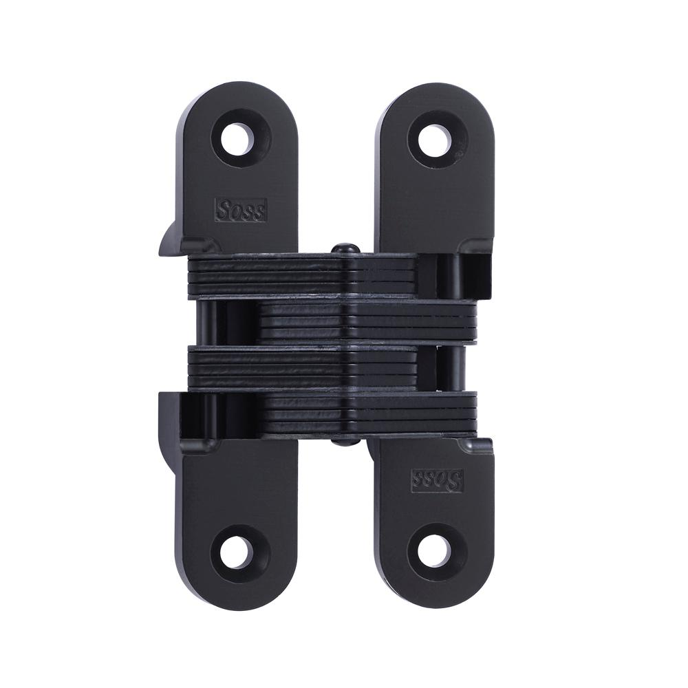 SOSS 1 In. X 4 5/8 In. Black E Coat Invisible Hinge 216US19   The Home Depot