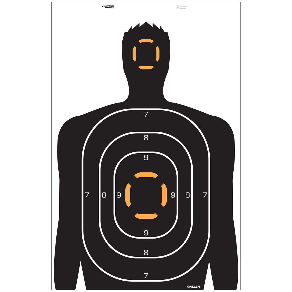 EZ Aim Human Silhouette Target (Pack of 4)