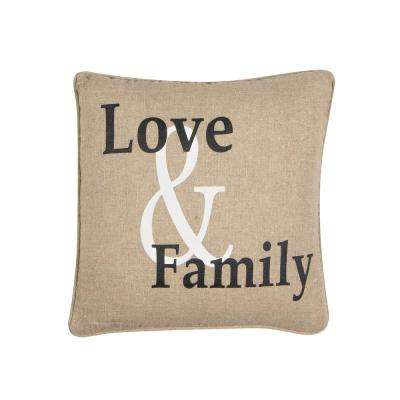 Love and Family Square Pillow