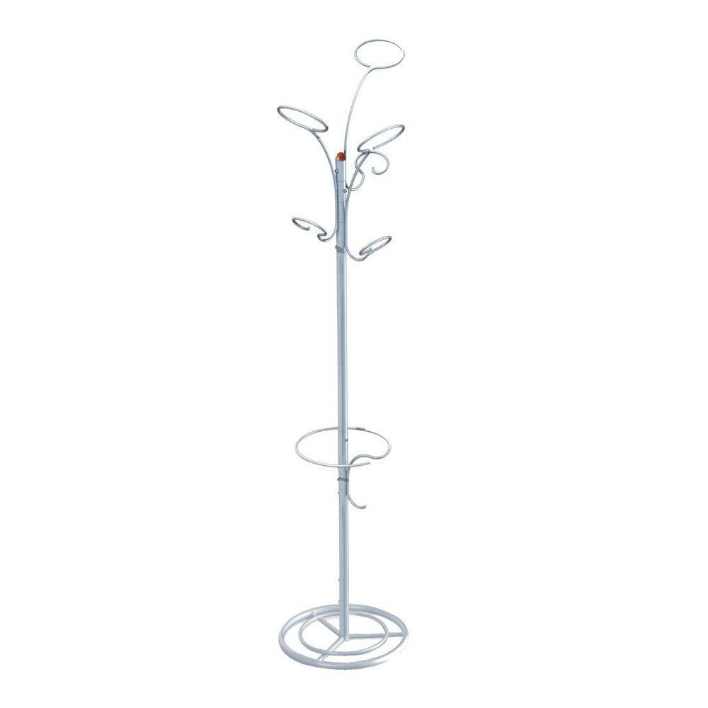 The Art of Storage Brahms Silver metallic 6-Hook Coat Rack