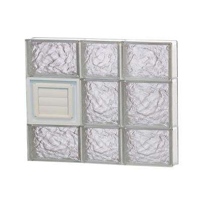 21.25 in. x 19.25 in. x 3.125 in. Frameless Ice Pattern Glass Block Window with Dryer Vent