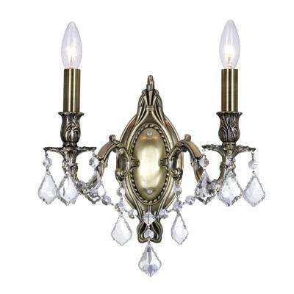 Brass 2-Light Antique Brass Sconce