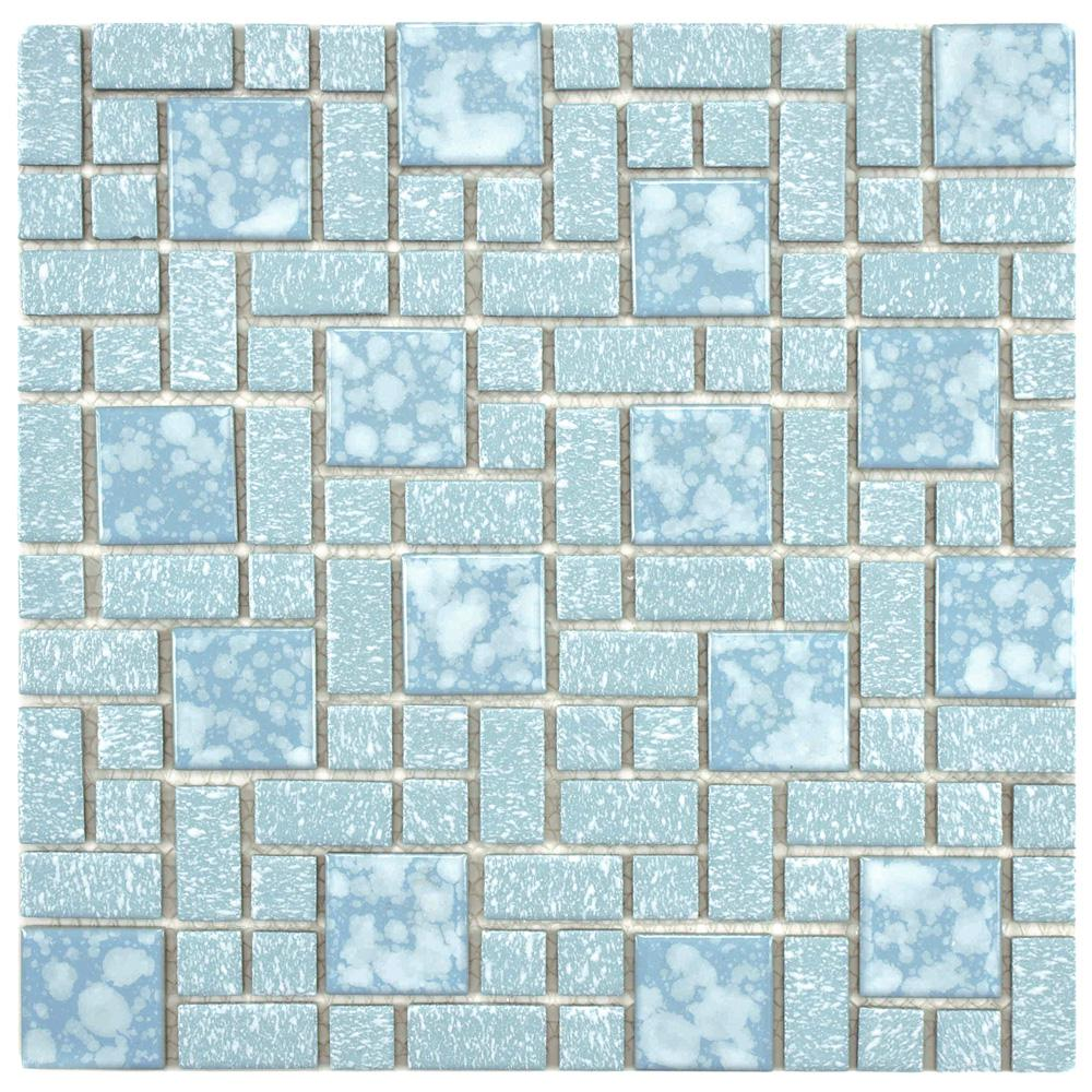 Merola Tile University Blue 11-3/4 in. x 11-3/4 in. x 5 mm Porcelain ...