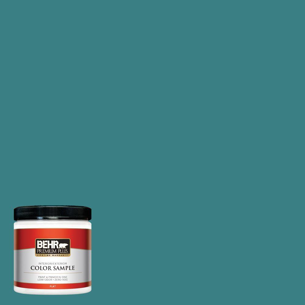 8 oz. #510D-7 Pacific Sea Teal Interior/Exterior Paint Sample
