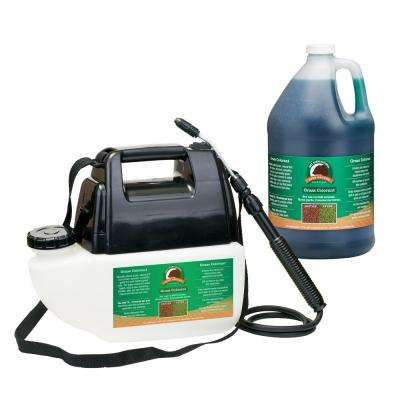 Battery Operated Sprayer with 1 Gal. Green Grass Colorant