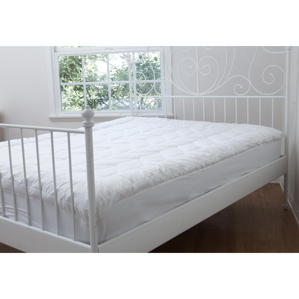 White Cotton Chevron Quilted Ca King Mattress Pad Mp001592 Ck The