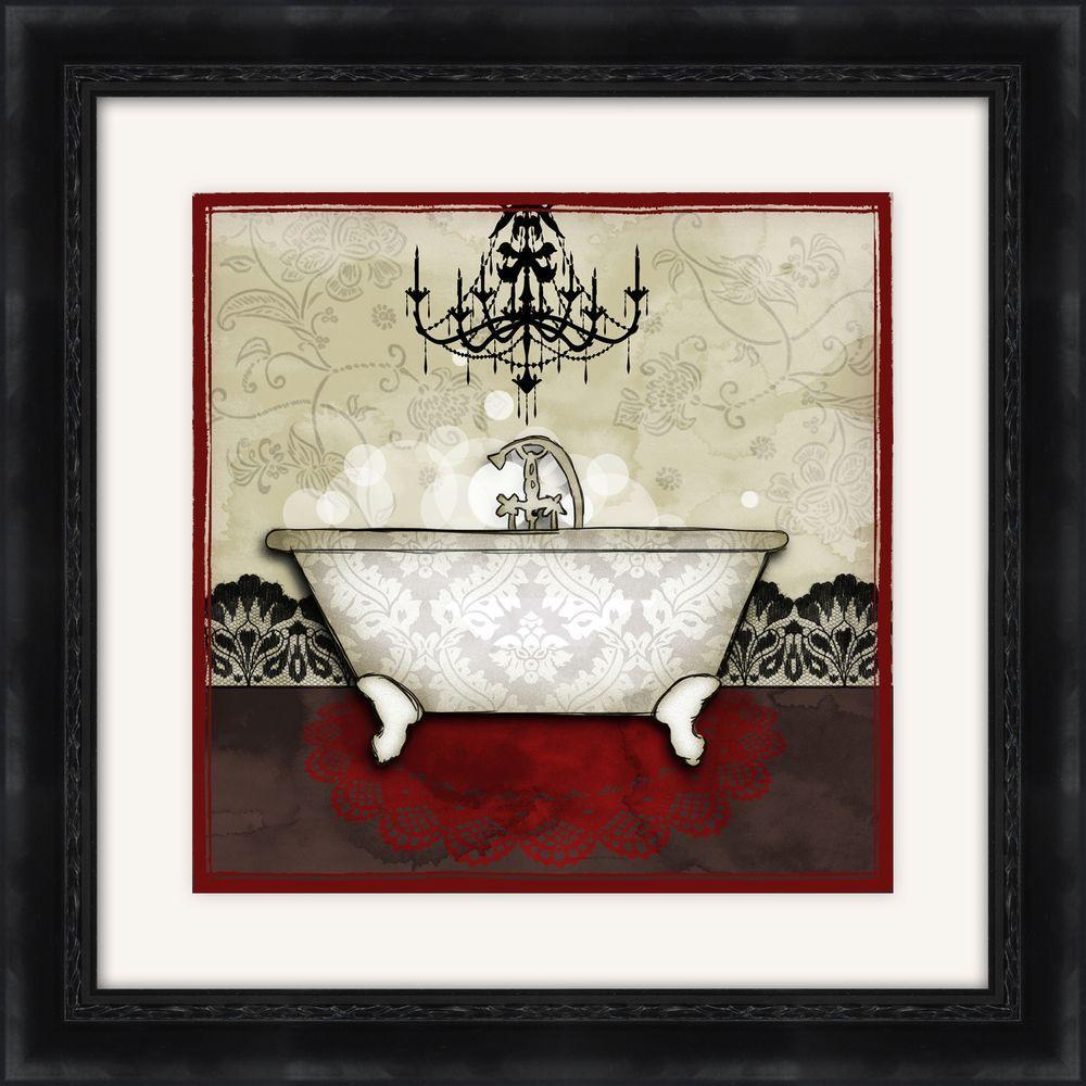 "19-1/2 in. x 19-1/2 in. ""Red Bath A"" Framed Wall Art"