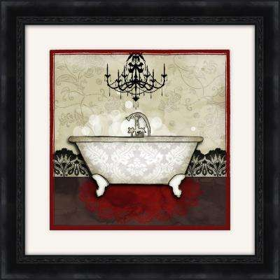 "19-1/2 in. x 19-1/2 in. ""Red Bath A"" Framed Wall Art"