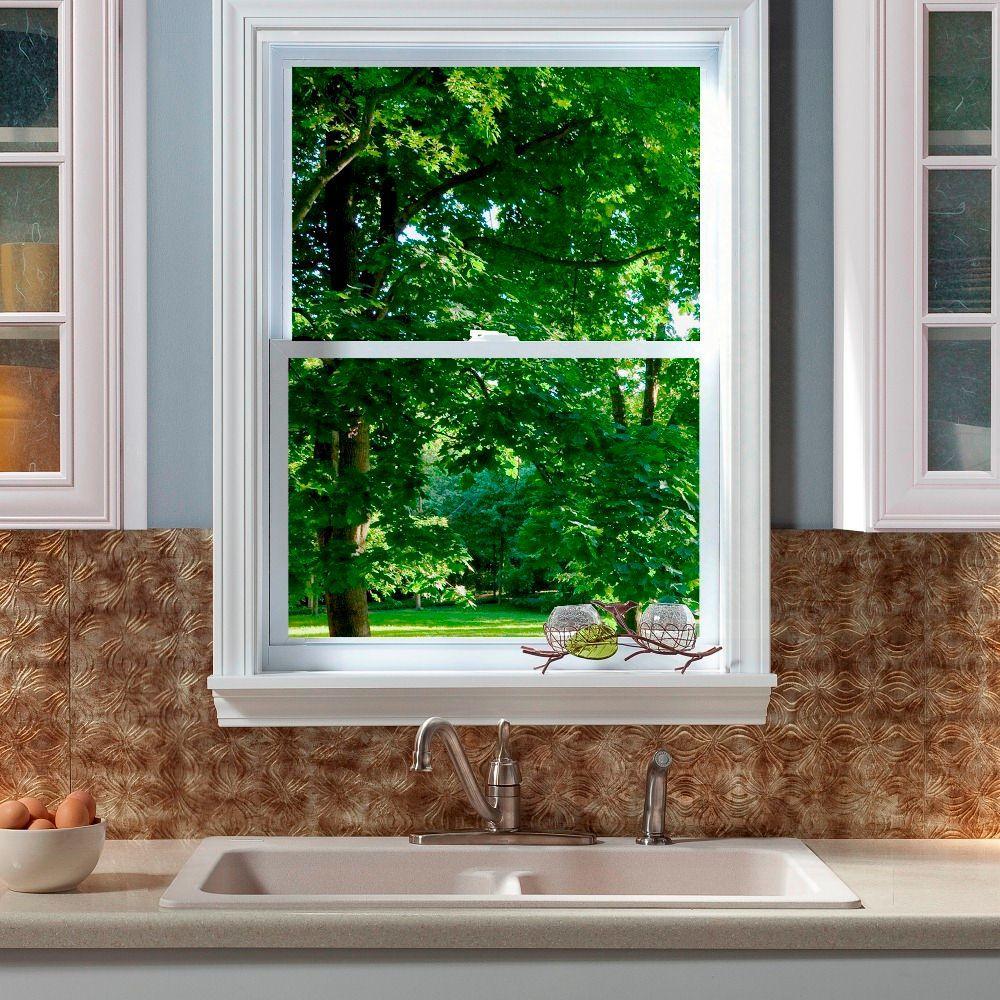 Fasade 24 in. x 18 in. Lotus PVC Decorative Tile Backsplash in Bermuda Bronze