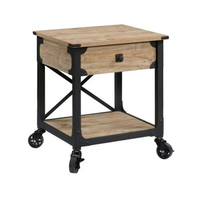 Steel River 23 in. Milled Mesquite End/Side Table