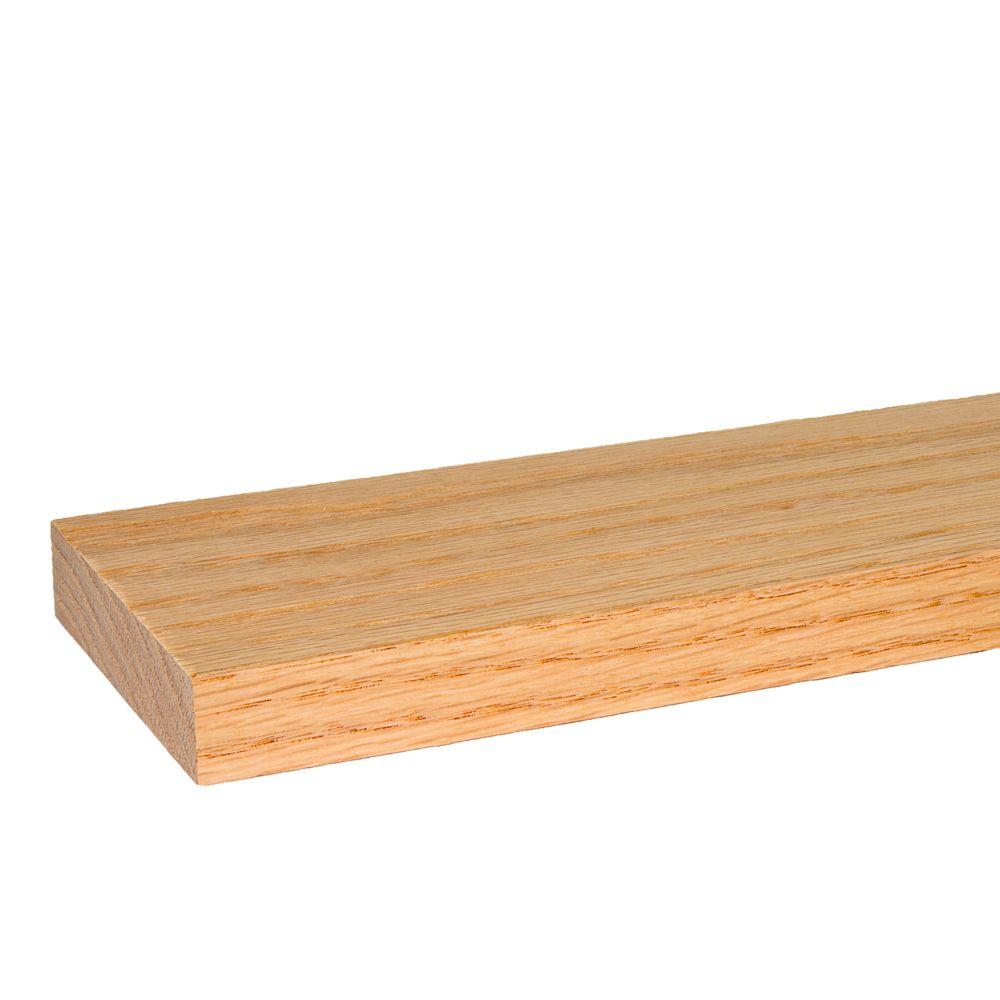 Builders Choice 1 in. x 4 in. x 8 ft. S4S Red Oak Board