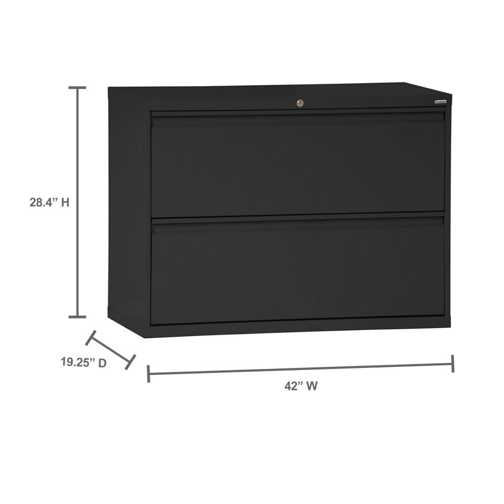 Red 19.25 Depth x 28.375 Height x 30 Width Sandusky Lee LF8F302-01 800 Series 2 Drawer Lateral File Cabinet