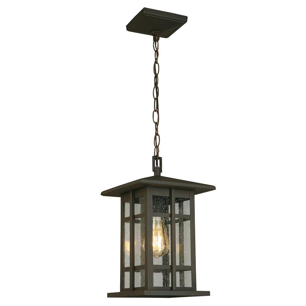 EGLO Arlington Creek Matte Bronze Outdoor 1-Light Hanging Light