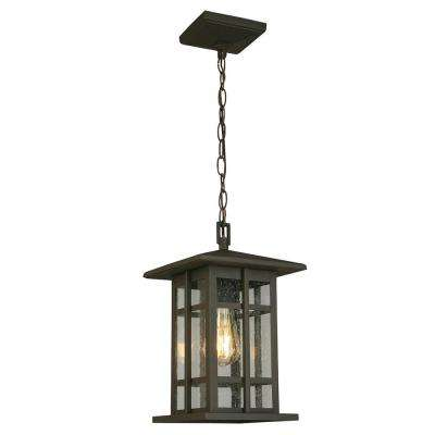 Arlington Creek Matte Bronze Outdoor 1-Light Hanging Light