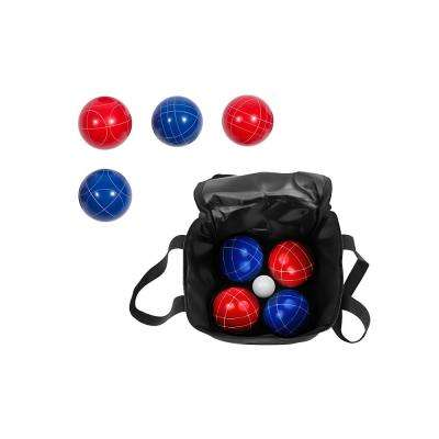 90 mm Bocce Ball Premium Set Top Quality Resin Balls 9-Balls with Carry Case in Red/Blue