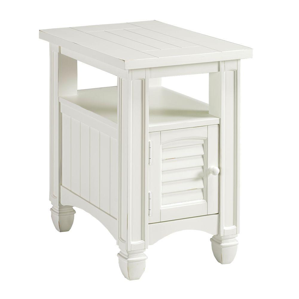 Home Decorators Collection Nantucket Weathered White Accent Table