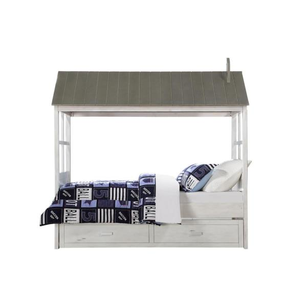 Acme Furniture Tree House II Weathered White and Washed Gray Twin