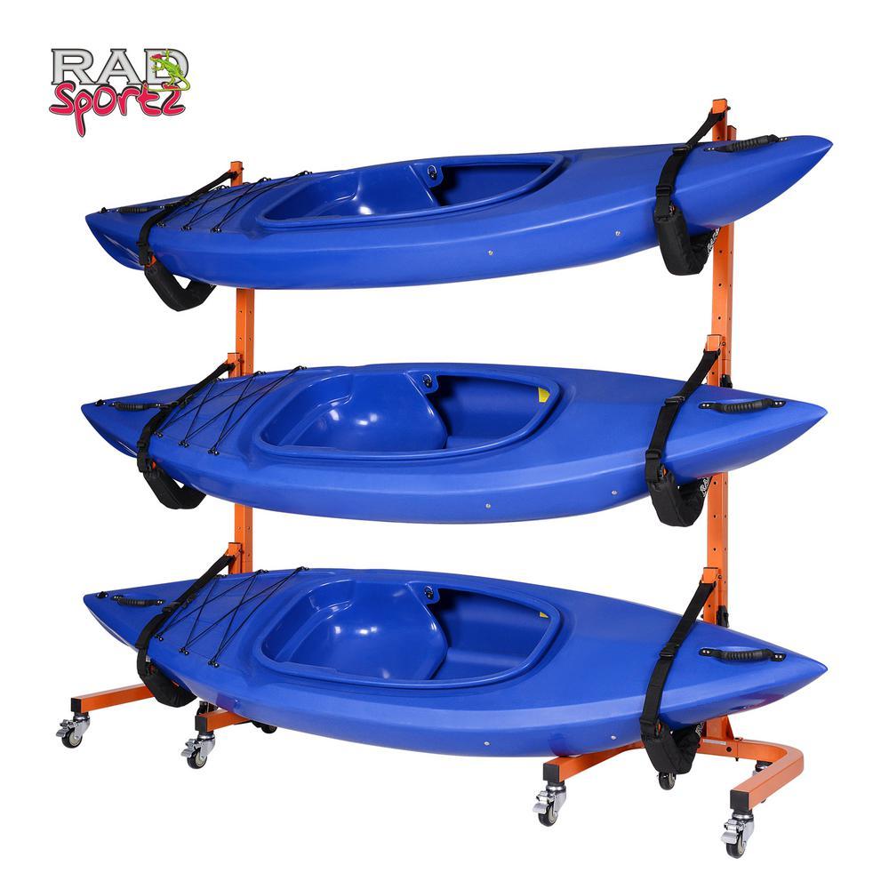 3-Boat Rolling Rack Storage