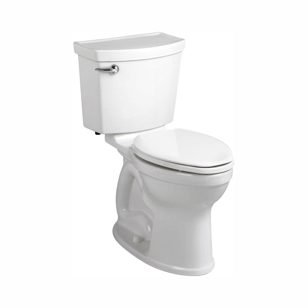 American Standard Champion 4 Max Tall Height 2-Piece High-Efficiency 1.28 GPF Single Flush Round Toilet in White, Seat Not Included