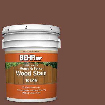 5 gal. #SC-129 Chocolate Solid Color House and Fence Exterior Wood Stain