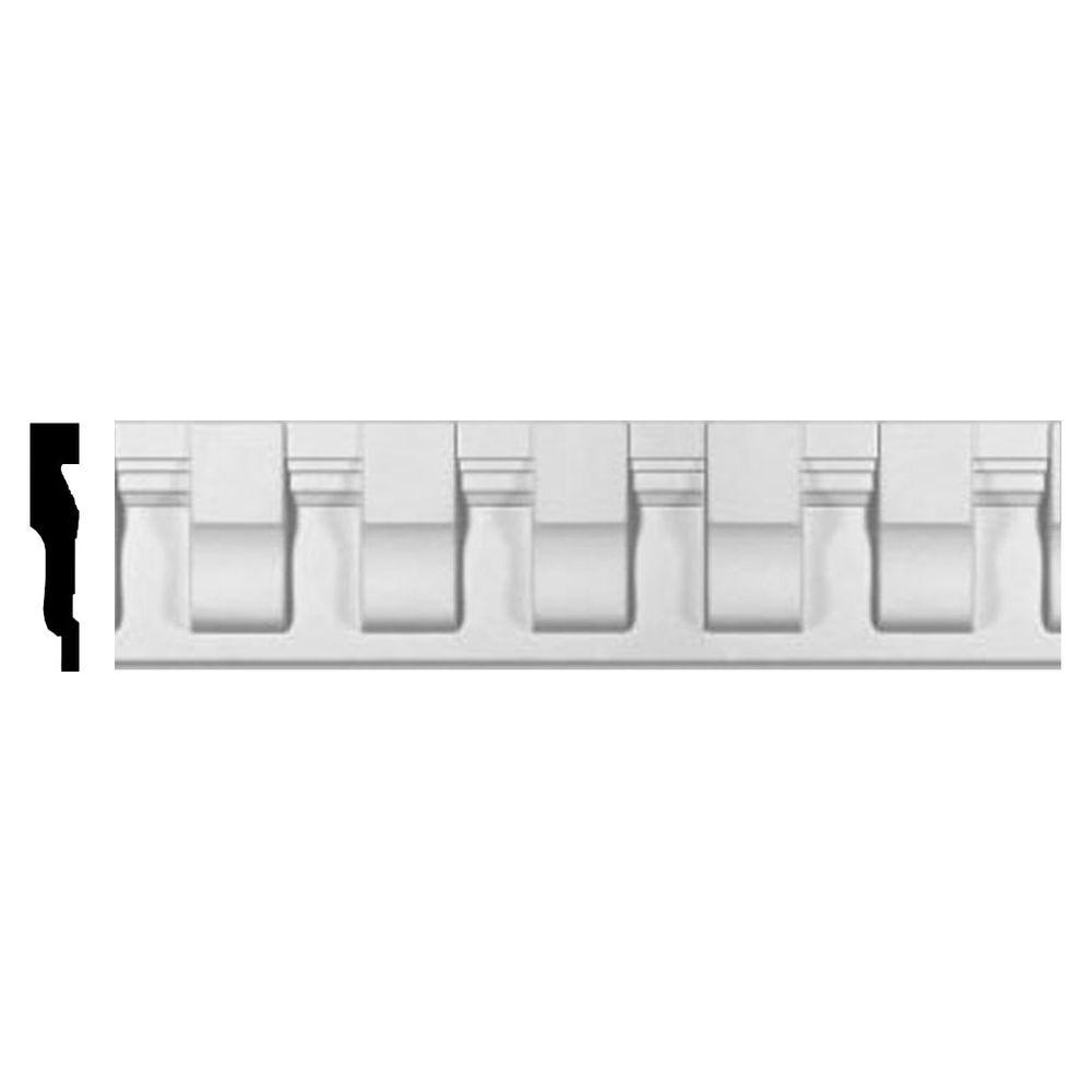1-1/4 in. x 5-5/8 in. x 96 in. Polyurethane Chesterfield Dentil