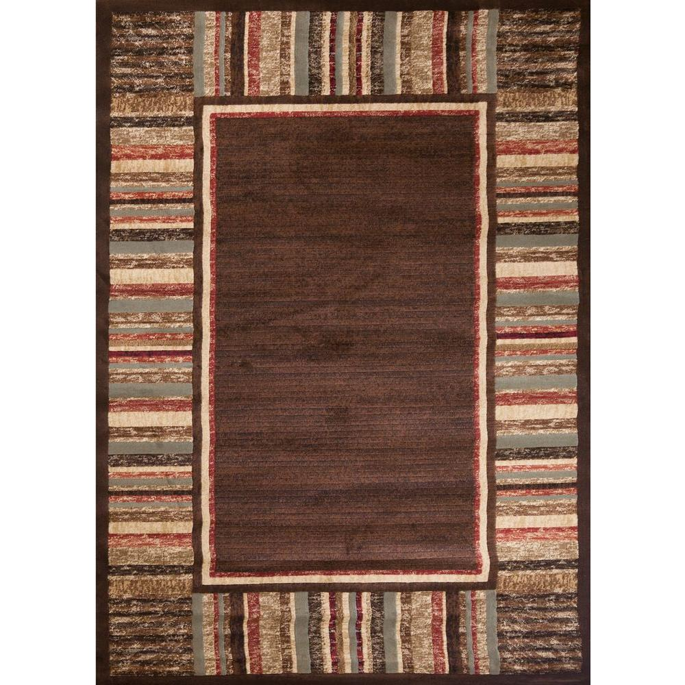 Soho Border Brown 5 ft. x 7 ft. Area Rug