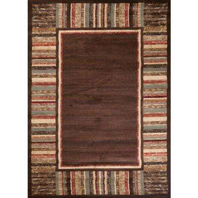 Soho Border Brown 7 ft. x 10 ft. Area Rug