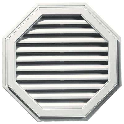 32 in. Octagon Gable Vent in White
