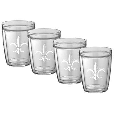 Kasualware Fleur de Lis 14 oz. Doublewall Short Tumbler (Set of 4)