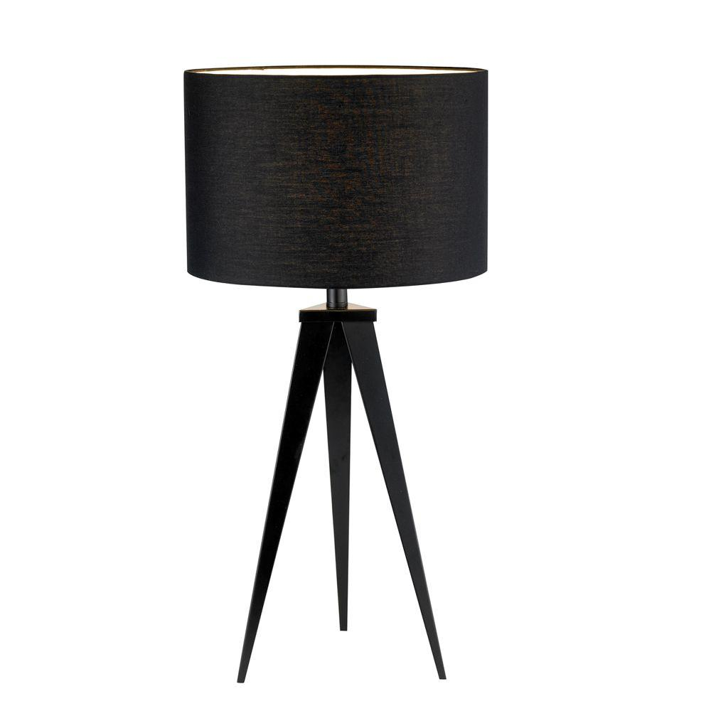 Adesso Director 28 In Black Table Lamp 6423 01 The Home
