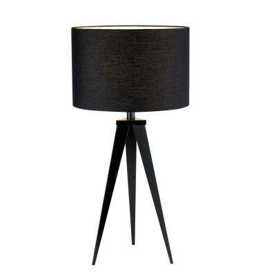 Director 28 in. Black Table Lamp