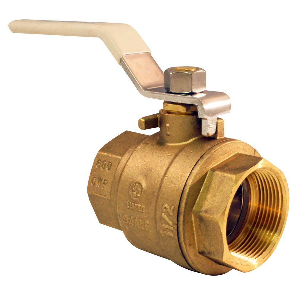 1-1/2 in. Lead Free Brass FNPT x FNPT Full-Port Ball Valve