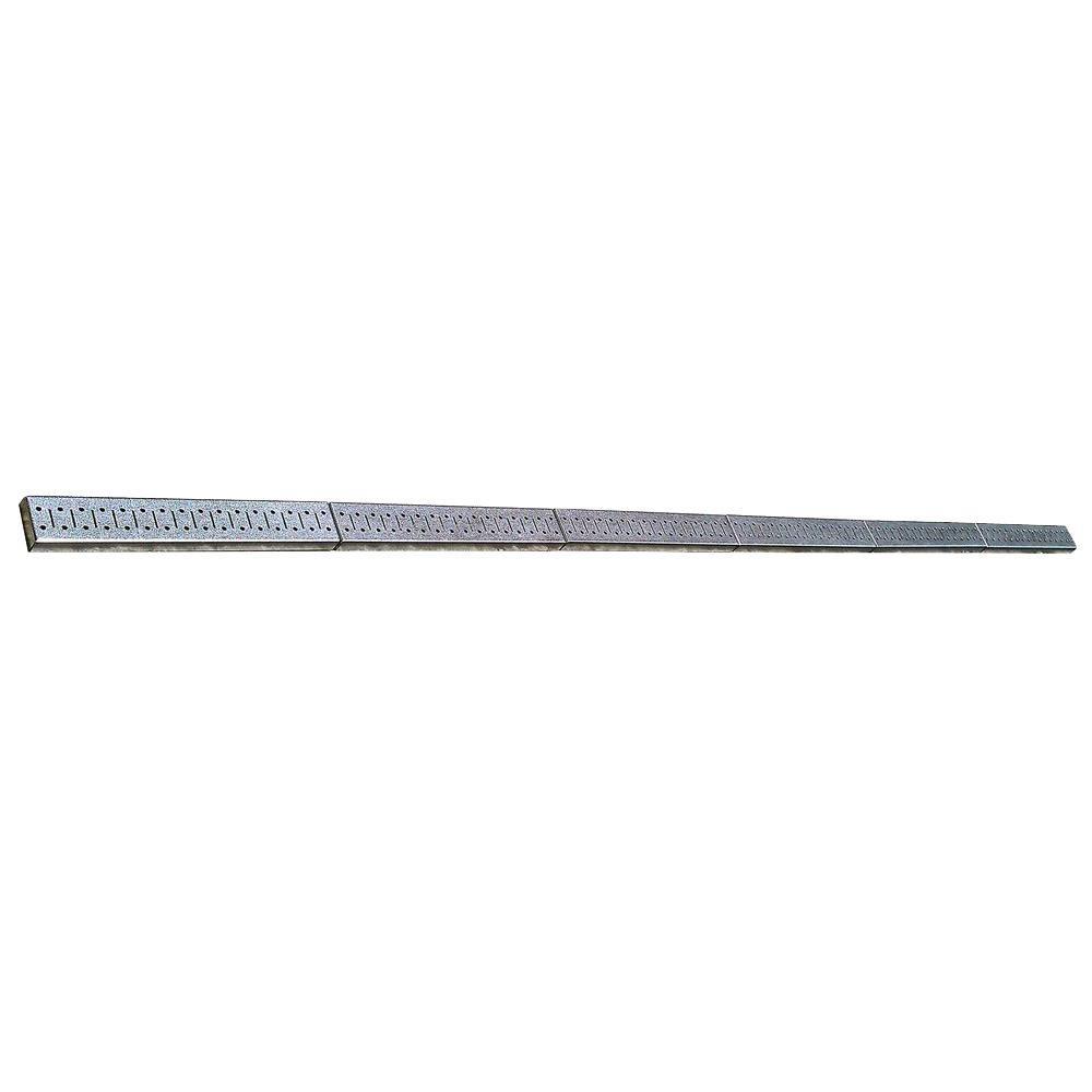 2.5 in. H x 96 in. W Wide Metal Pegboard Set Strip Garage Rail Tool Organizer Set